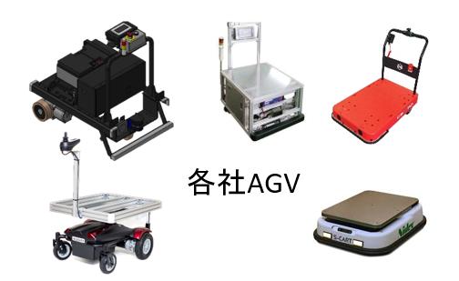 各社のAGVに取り付け可能