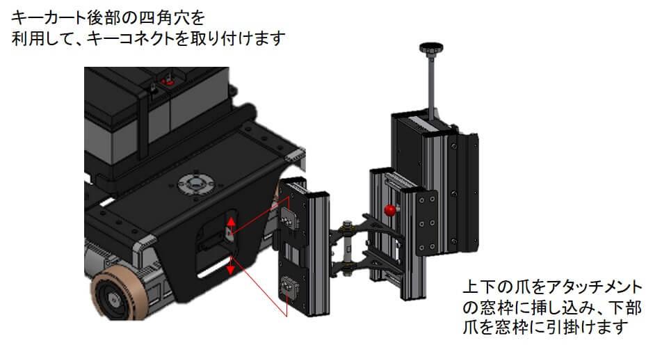 トヨタL&F製 キーカート(AGV:無人搬送車)用治具(キーコネクト)