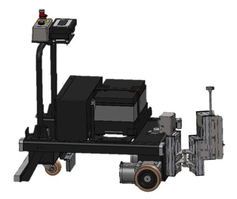 トヨタL&F製 キーカート(AGV:無人搬送車)へのキーコネクトの取付け